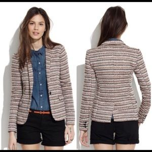 Madewell Tweed Striped Blazer in Size 0